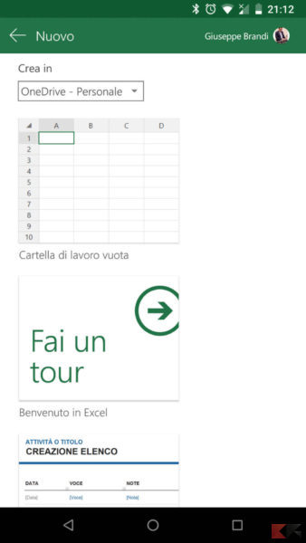 Unire celle Excel Smartphone2