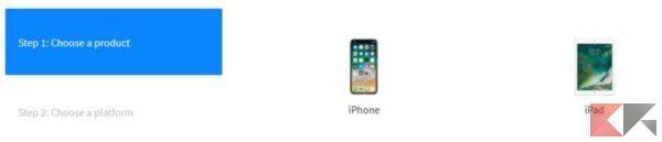aggiornare iphone ipsw