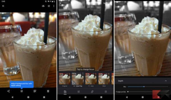 Google sta testando gli effetti bokeh manuale e Color Pop in Google Foto
