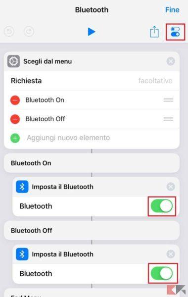 bluetooth comandi ios