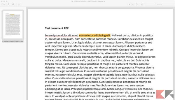 come modificare testo pdf mac anteprima 1