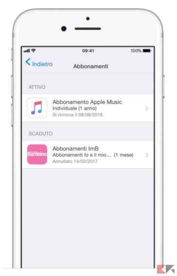 disattivare apple music