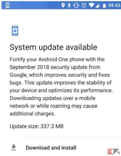Xiaomi Mi A2 si aggiorna con le patch di Settembre