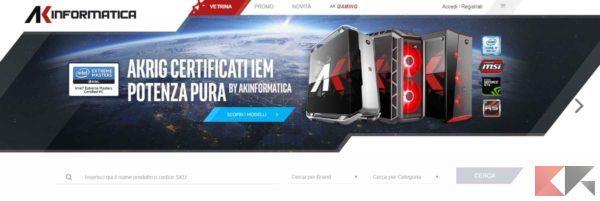 i migliori siti per comprare componenti PC - AK Informatica