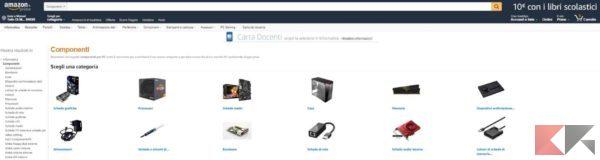 i migliori siti per comprare componenti PC - Amazon