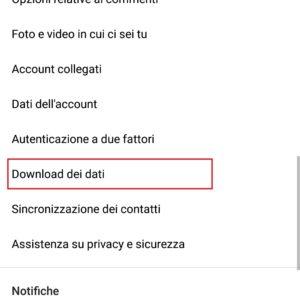instagram dati mobile