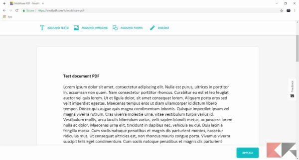 modificare testo pdf smallpdf 2