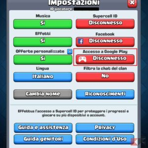 recuperare account clash royale android 2