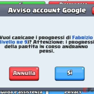 recuperare account clash royale android 3