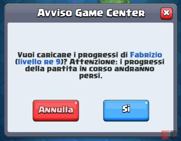 recuperare account clash royale ios 2