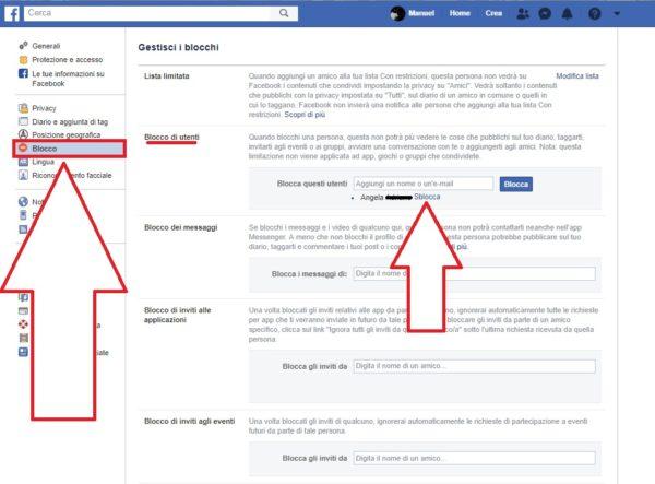 Come sbloccare una persona su Facebook da PC