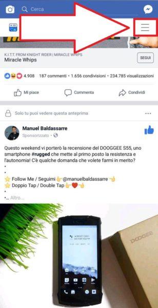 Come sbloccare una persona su Facebook da Andoird