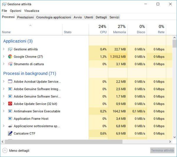 controllare traffico dati windows 2