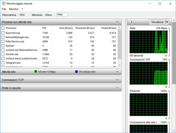 controllare traffico dati windows 3