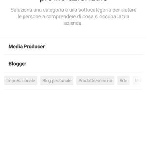 creare profilo aziendale instagram 3