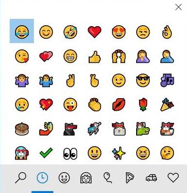emoji windows 10