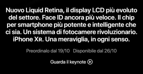 preordine iphone xr