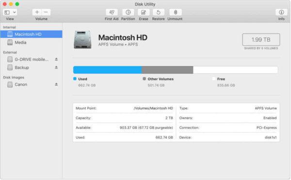 sbloccare hard disk esterno Mac solo lettura