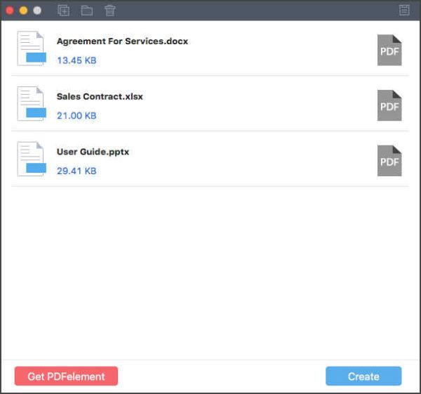 trasformare file Word in PDF PDFElement1