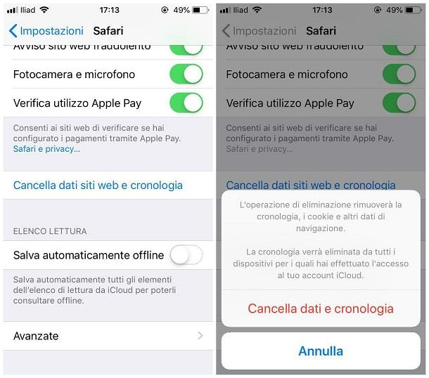 Come cancellare cookie da smartphone 2