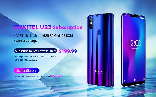 OUKITEL U23 subscribe and giveaway