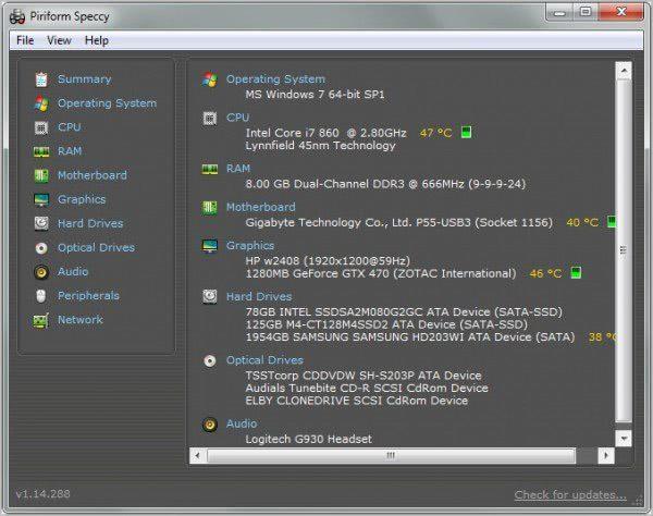 Come vedere le componenti di un PC