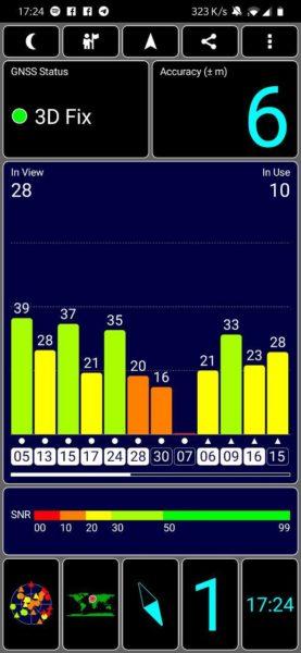 OnePlus 6T recensione GPS