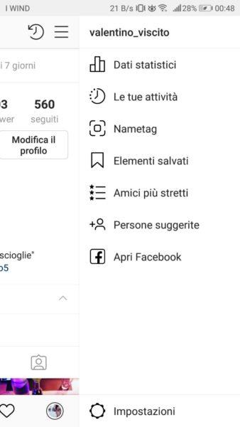 Instagram Le tue attività