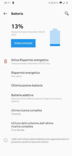 OnePlus 6T recensione Oxygen OS