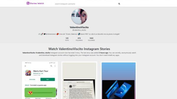 Come vedere anteprime storie Instagram