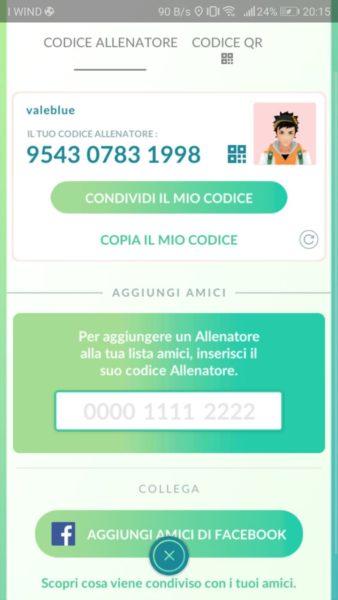 Pokémon GO Codice Allenatore