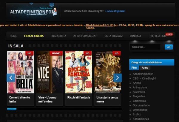 Altadefinizione Film Streaming Alternative E Nuovo Sito Chimerarevo