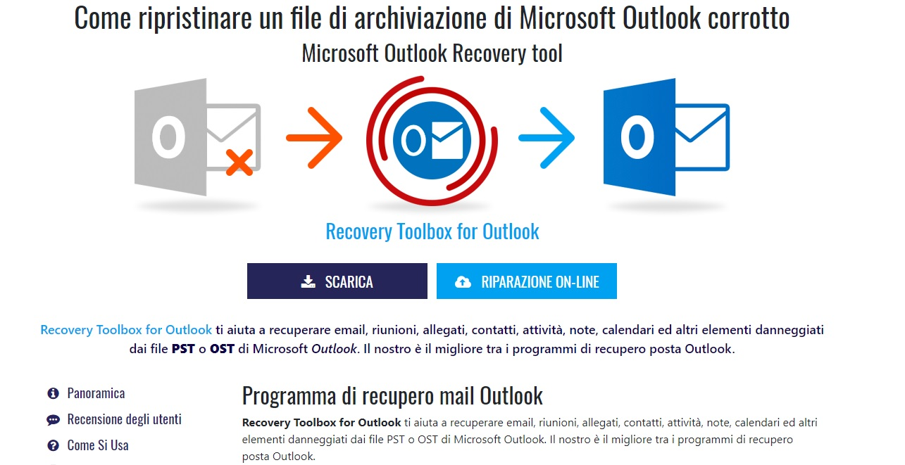 recuperare file di outlook corrotti