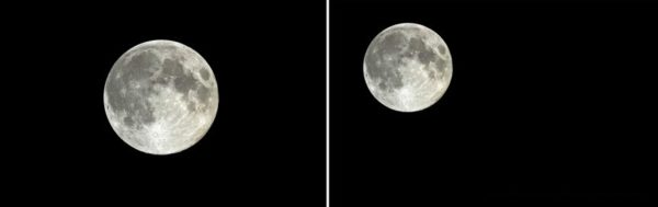 Come fotografare la luna con lo smartphone-composizione della foto