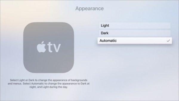 Dark mode apple tv