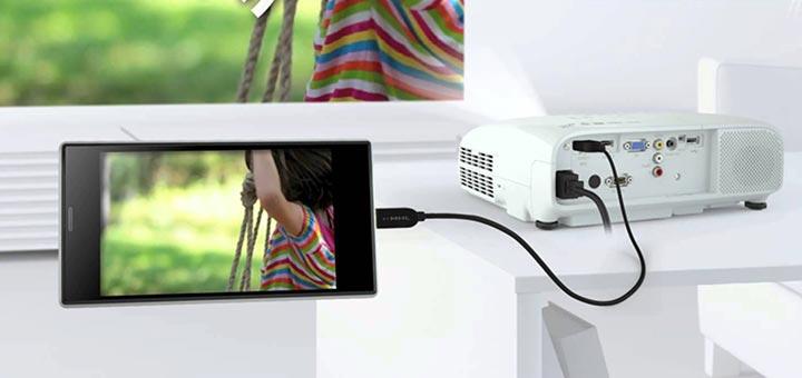 Come collegare smartphone Android a proiettore