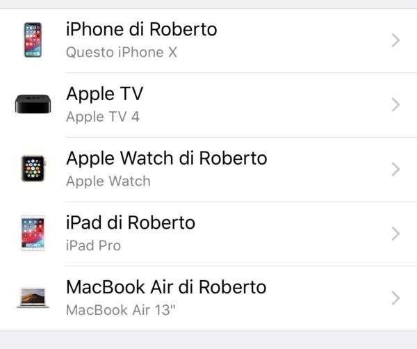 dispositivi collegati all'ecosistema di Apple