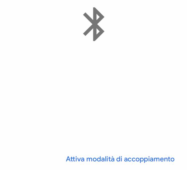 Attivazione Bluetooth Google Home