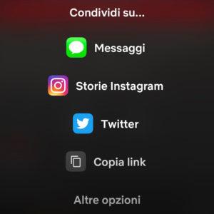 condividere serie Netflix su storie Instagram