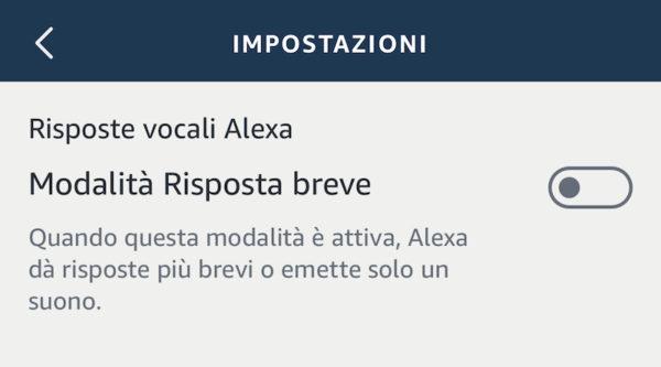 Risposte brevi Alexa
