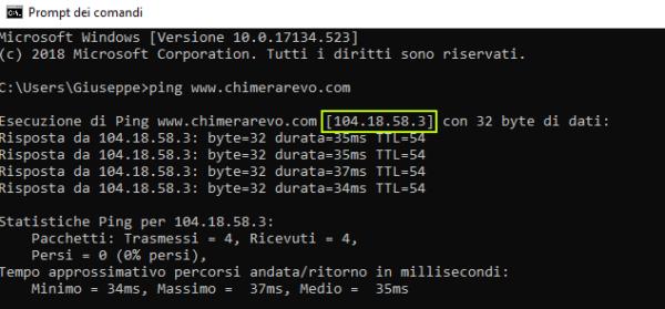 Indirizzo IP screenshot 1