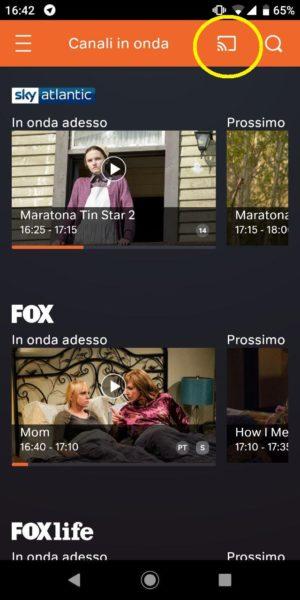 come vedere sky go con chromecast - now tv