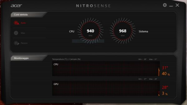 recensione acer nitro 50 nitro sense