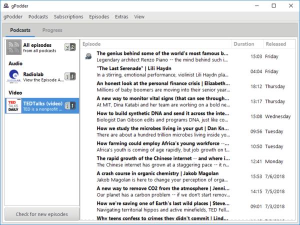 Come ascoltare podcast su Linux con Gpodder