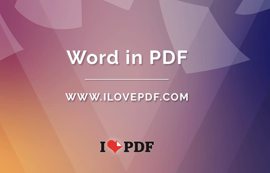 Come creare PDF da Word 2