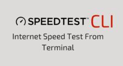 Come fare Speedtest su Linux da terminale
