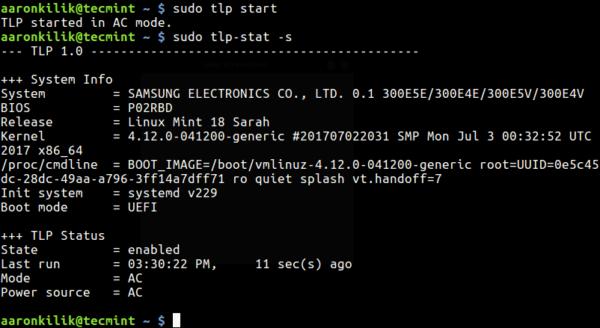 Come migliorare la durata della batteria su Linux