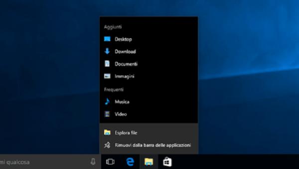 Come mostrare barra applicazioni a schermo intero su Windows 10