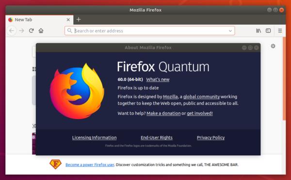 Come ottenere Firefox Quantum su Debian Stable