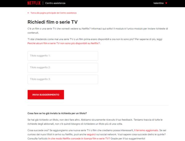 Come richiedere un film o serie TV su Netflix-1